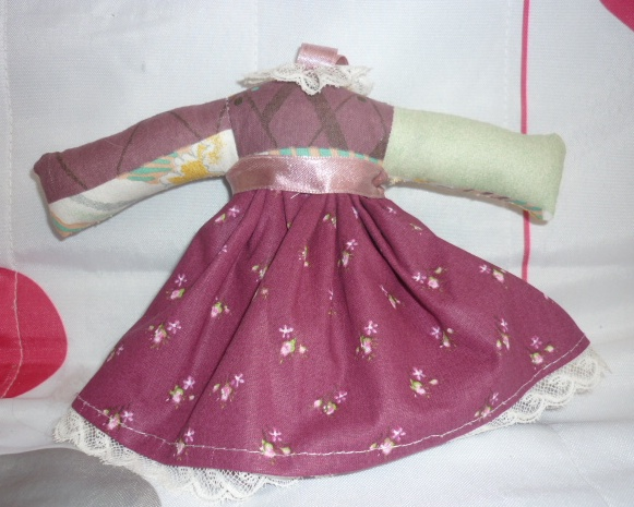 Sachet lavande style robe mauve