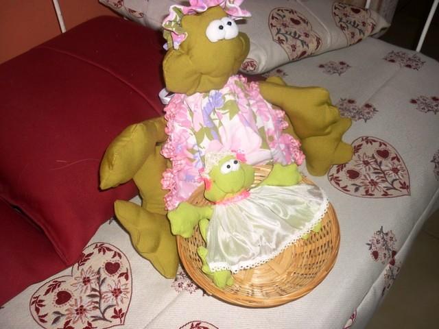maman grenouille et son petit