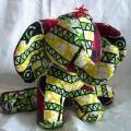 Eléphant rayée verts