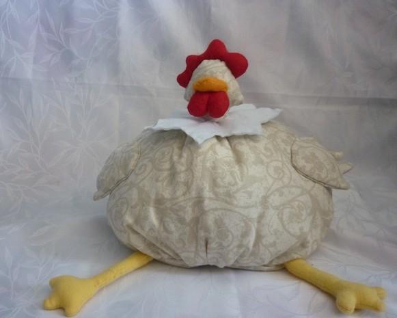 poule coussin